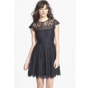 🆕❤️BB DAKOTA Romantic Black Lace Cocktail Dress 2